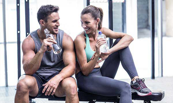 Photo of a man and woman after working out together