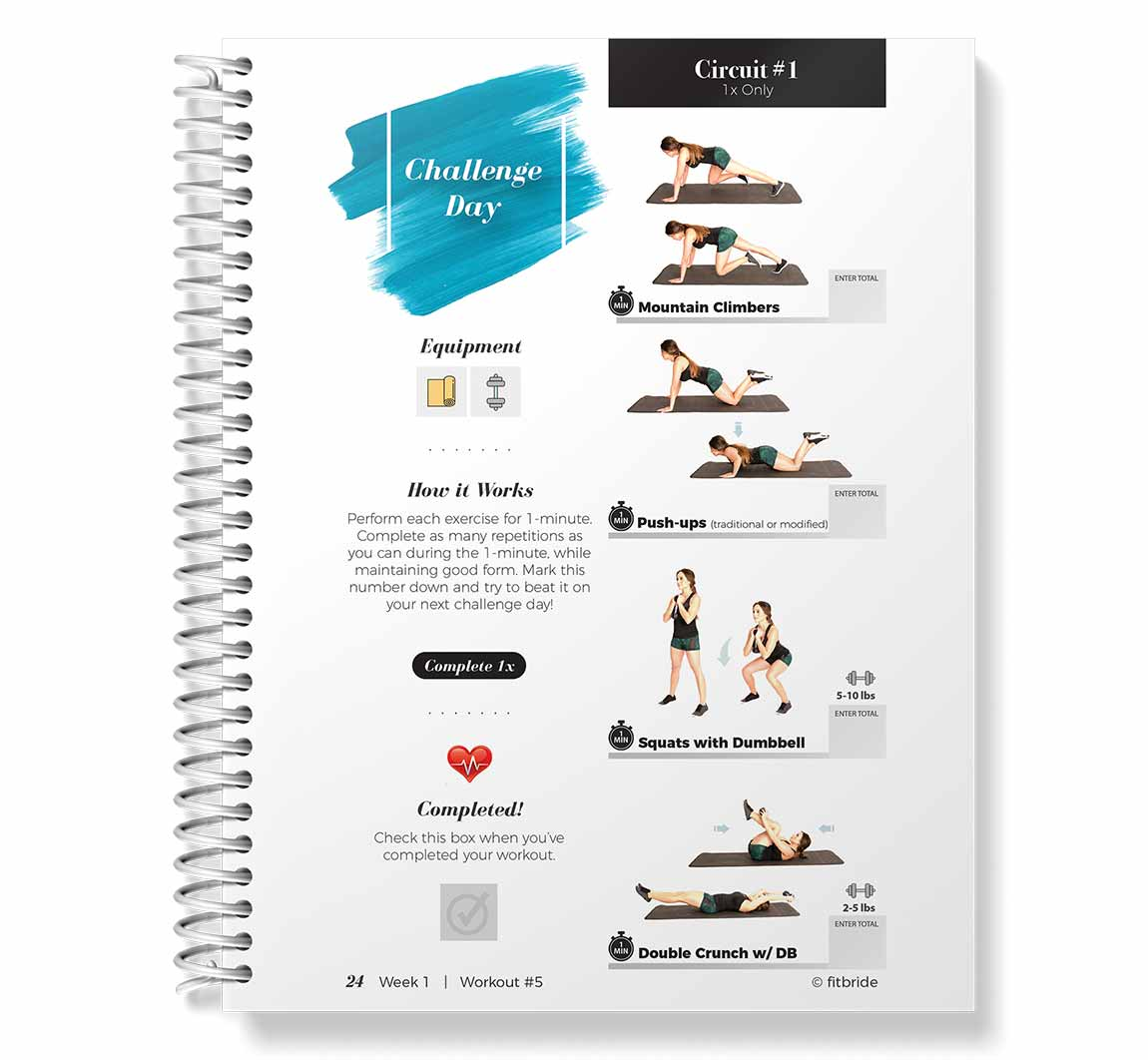 Fitbride workout book Challenge Day